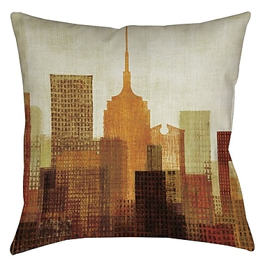Manual Woodworkers & Weavers Summer in the City II Printed Throw Pillow; 20'' H x 20'' W x 5'' D