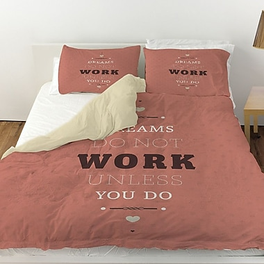 Manual Woodworkers & Weavers Dreams Take Work Duvet Cover; Twin