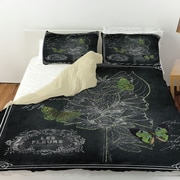 Manual Woodworkers & Weavers Chalkboard Botanical 2 Duvet Cover; King