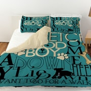 Manual Woodworkers & Weavers Dog Commands Duvet Cover; King