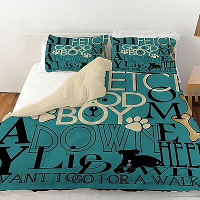 Manual Woodworkers & Weavers Dog Commands Duvet Cover; Twin