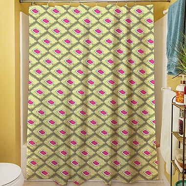 Manual Woodworkers & Weavers Butterfly Diamond Shower Curtain