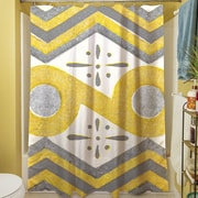Manual Woodworkers & Weavers Citron and Slate II Shower Curtain