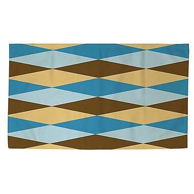 Manual Woodworkers & Weavers Bold in Blue Argyle Area Rug; 2' x 3'
