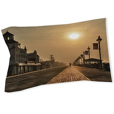 Manual Woodworkers & Weavers Boardwalk Sunrise Sham; Queen/King
