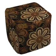 Manual Woodworkers & Weavers Floral Abstract 2 Ottoman