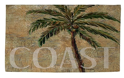 Manual Woodworkers & Weavers Coastal Palm Postcard Beige Area Rug; 4' x 6'