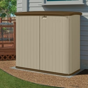 Suncast 4 ft. 8 in. W x 2 ft. 8 in. D Plastic Horizontal Garbage Shed