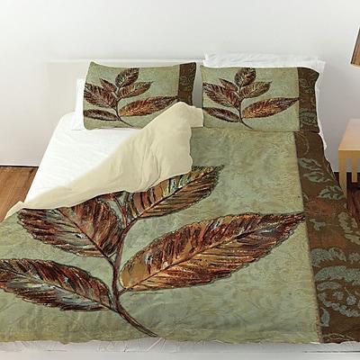 Manual Woodworkers & Weavers Golden Leaf 1 Duvet Cover; Queen