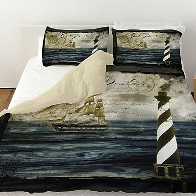 Manual Woodworkers & Weavers Timeless Voyage 2 Duvet Cover; Queen