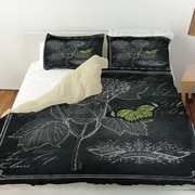 Manual Woodworkers & Weavers Chalkboard Botanical 1 Duvet Cover; Queen