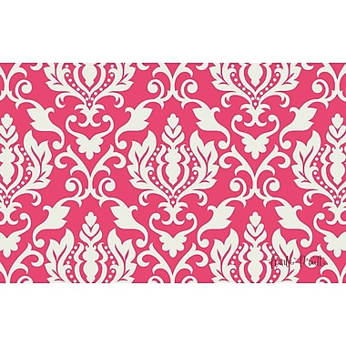 Manual Woodworkers & Weavers Francie Damask Pink Area Rug; 3'1'' x 1'10.5''