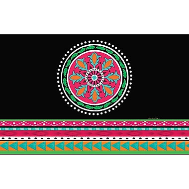 Manual Woodworkers & Weavers Boho Medallion Square Black Area Rug; 5'10'' x 4'4''