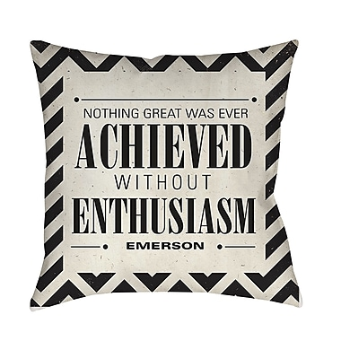 Manual Woodworkers & Weavers Achieved Printed Throw Pillow; 26'' H x 26'' W x 7'' D