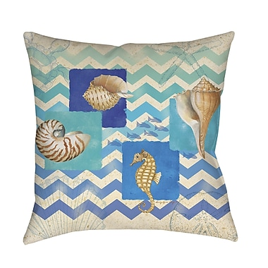 Manual Woodworkers & Weavers Deep Blue Sea Printed Throw Pillow; 18'' H x 18'' W x 5'' D