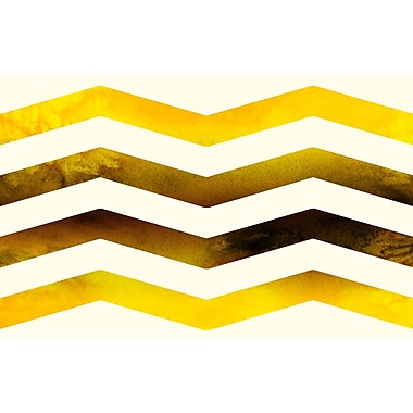 Manual Woodworkers & Weavers Ombre Gold Chevron Area Rug; 3'1'' x 1'10.5''
