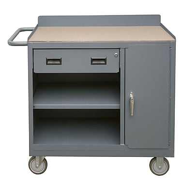 Durham Manufacturing Mobile 36''W Wood Top Workbench