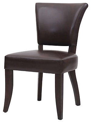 New Pacific Direct Austin Side Chair (Set of 2); Dark Brown
