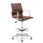 Woodstock Marketing Annie Drafting Chair; Brown