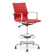 Woodstock Marketing Annie Drafting Chair; Red