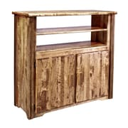Montana Woodworks  Homestead TV Stand; Stained and Lacquered