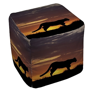 Manual Woodworkers & Weavers Cougar Silhouette Ottoman