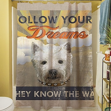 Manual Woodworkers & Weavers Dog Days - Pek Pup Shower Curtain