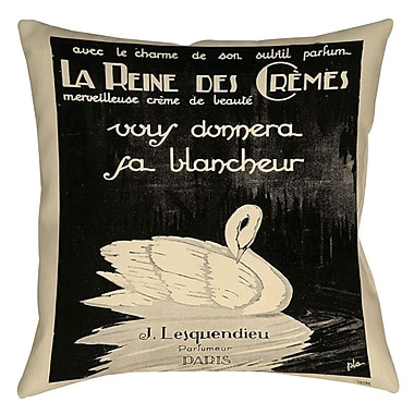 Manual Woodworkers & Weavers Swan Cremes Indoor/Outdoor Throw Pillow; 16'' H x 16'' W x 4'' D