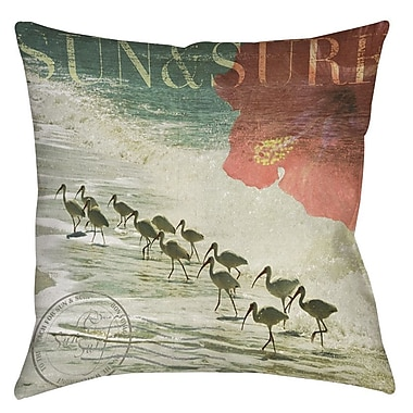 Manual Woodworkers & Weavers Sun and Surf Printed Throw Pillow; 16'' H x 16'' W x 4'' D