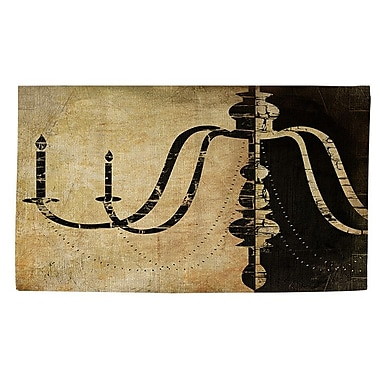 Manual Woodworkers & Weavers Chandelier 2 Black/Tan Area Rug; 2' x 3'
