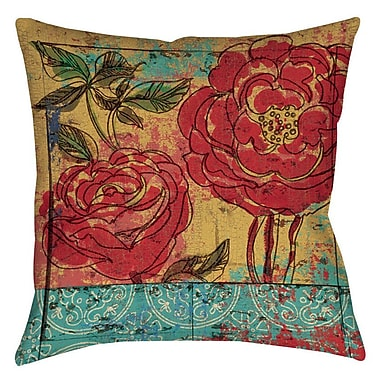 Manual Woodworkers & Weavers Valencia 3 Printed Throw Pillow; 14'' H x 14'' W x 3'' D
