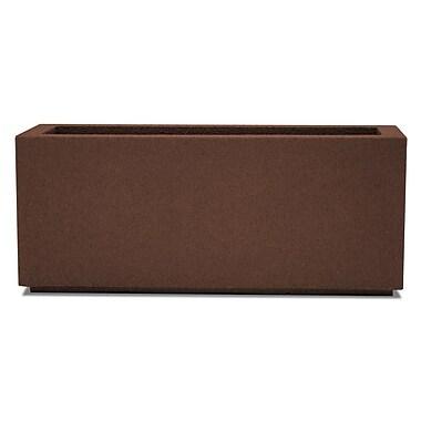 Poly-Stone Planters Rectangular Planter Box; Dark Brown