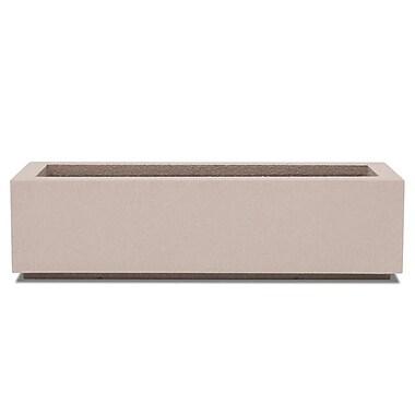 Poly-Stone Planters Rectangular Planter Box; White