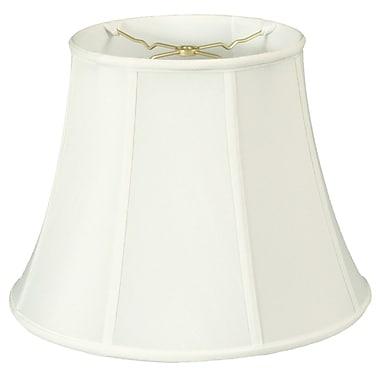 RoyalDesigns Regal 18'' Silk/Shantung Bell Lamp Shade; White