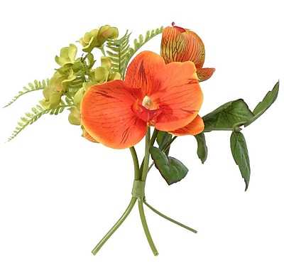ZiaBella Wrapped Bouquet in Green/Orange Raffia