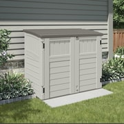 Suncast Utility 4.29 ft. W x 2.63 ft. D Plastic Horizontal Garbage Shed