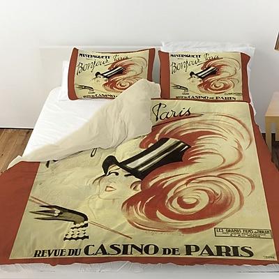 Manual Woodworkers & Weavers Bonjour Paris Duvet Cover; King