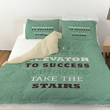 Manual Woodworkers & Weavers Take the Stairs Duvet Cover; King