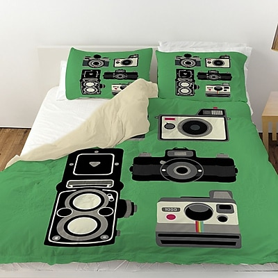 Manual Woodworkers & Weavers Cameras Duvet Cover; Twin