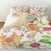 Manual Woodworkers & Weavers White Anima Duvet Cover; King