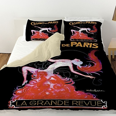 Manual Woodworkers & Weavers Casino De Paris Duvet Cover; Twin