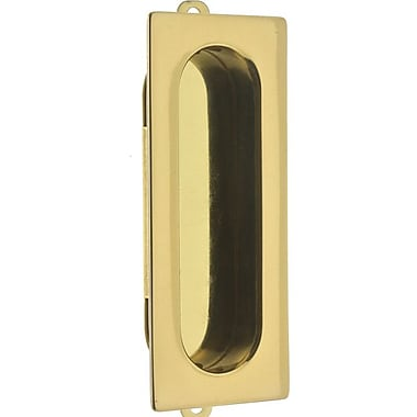idh by St. Simons Solid Brass Curtain Flush Pull; Polished Brass