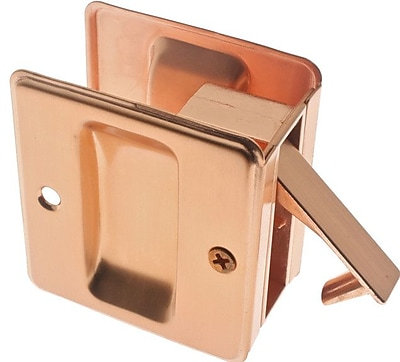 idh by St. Simons Solid Brass Pocket Passage Pull; Bright Copper