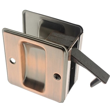 idh by St. Simons Solid Brass Pocket Passage Pull; Antique Copper