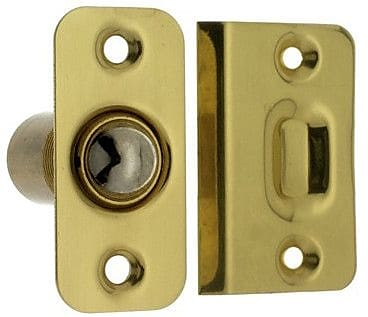 idh by St. Simons Solid Brass Wide Round Roller Ball Catch; Polished Brass