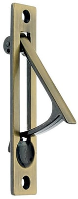 idh by St. Simons Solid Brass Edge Pull; Antique Brass