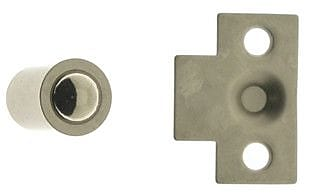 idh by St. Simons Solid Brass Mini Ball Catch; Satin Nickel
