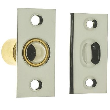 idh by St. Simons Solid Brass Narrow Square Roller Ball Catch; Bright Nickel