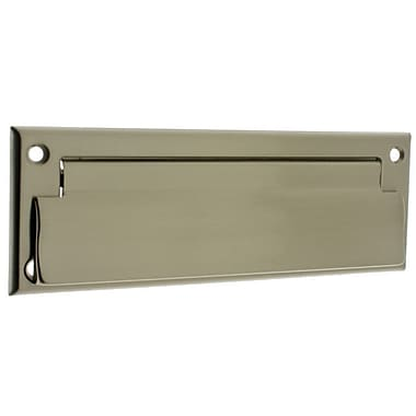 idh by St. Simons 9 in x 3 in Brass Mail Slot; Satin Nickel