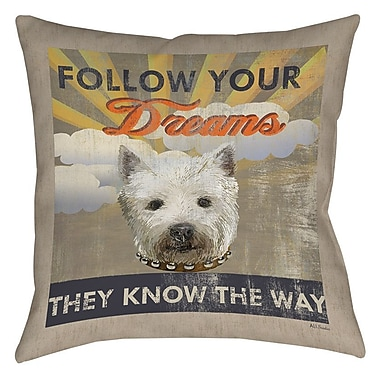 Manual Woodworkers & Weavers Dog Days - Pek Pup Printed Throw Pillow; 16'' H x 16'' W x 4'' D